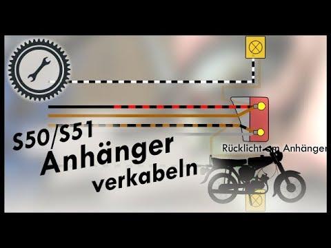 Simson Anhänger #3 - Verkabelung S50/S51 - YouTube