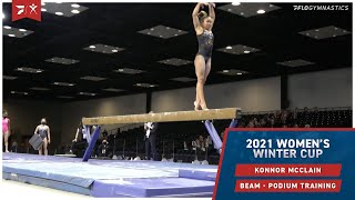 Konnor McClain - Beam - 2021 Women's Winter Cup Podium Training