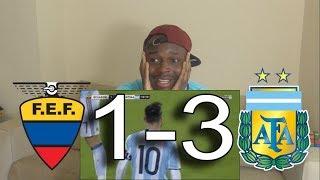 Ecuador VS Argentina 1-3 ● Messi Magnificent Hatrick: Reaction