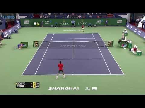 Djokovic Punishes Federer Approach with Shanghai Hot Shot