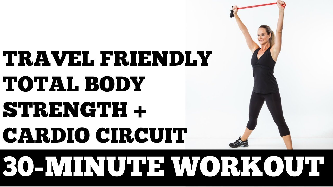 30-minute travel friendly cardio   strength circuit workout  perfect for hotel rooms
