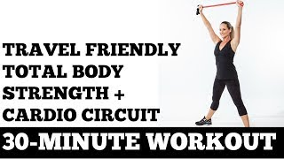 30-Minute Travel Friendly Cardio + Strength Circuit Workout (Perfect for Hotel Rooms!)