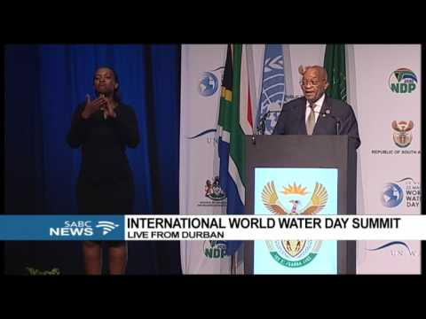 President Zuma speaks at the International World Water Day S