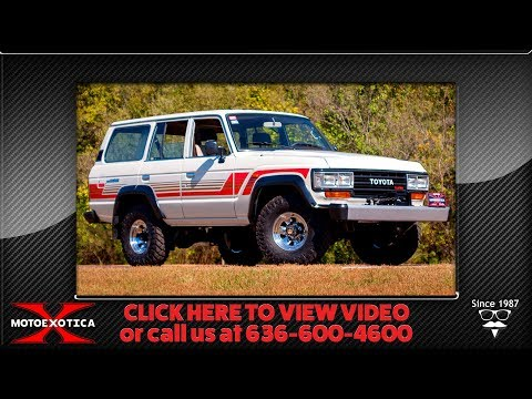 1988 Toyota Land Cruiser 4x4 Diesel -- For Sale @ MotoeXotica