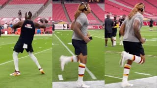 Chase Young & Dwayne Haskins GETTING READY Matchup With Cardinals