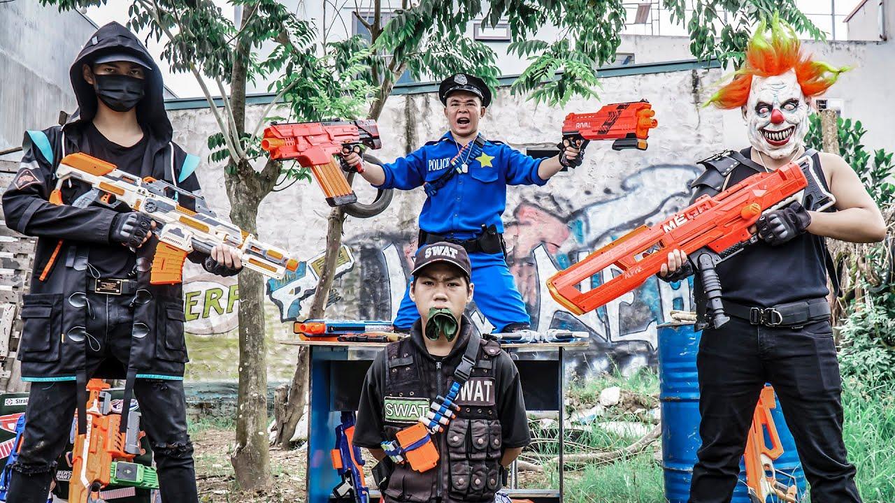 MASK Nerf War : Captain Nerf Guns Masters Alpha Fight Crime Group Dr.Zero Mask Cruel Gang Of Thugs