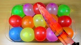 EXPERIMENT Glowing 1000 degree KNIFE VS WATER BALLOONS - Glowing Knife