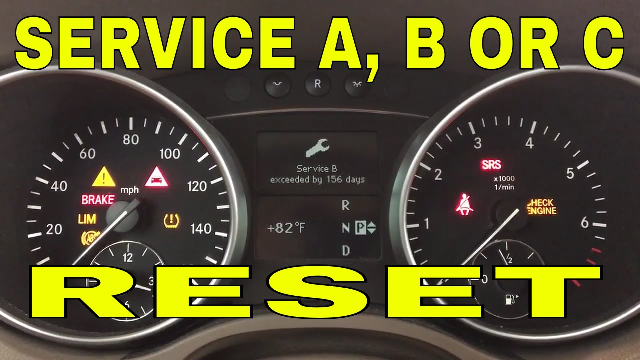 How to reset service on Mercedes ML GL 2007, 2008, 2009, 2010, 2011, 2012