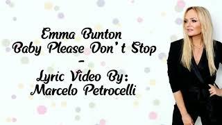 Emma Bunton - Baby Please Don't Stop (Lyric Video) [Lyrics]