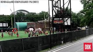 Surveillance footage of Maryland football player Jordan McNair's final workout