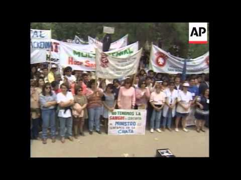 CHILE: HEALTH WORKERS STRIKE ENTERS 4TH DAY