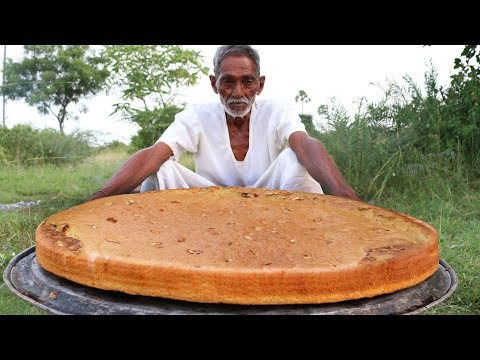 Sponge Cake without Oven | Sponge Cake Recipe Cooking by our grandpa for Orphan kids