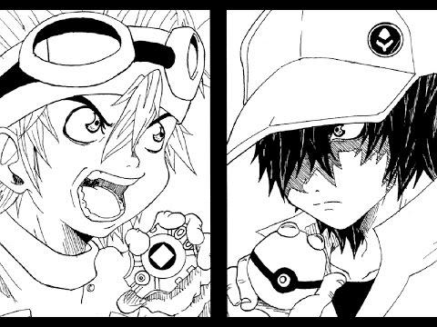 """Poké-Drawing #04 Red Trainer vs Taichi """"Tai"""" Kamiya"""