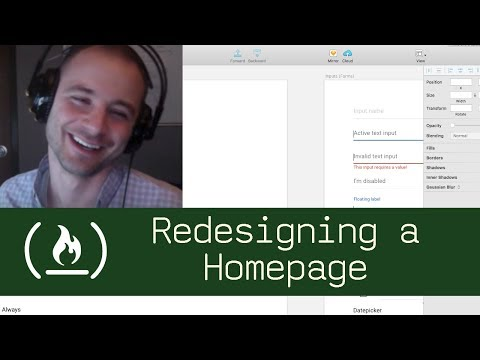 Redesigning A Homepage (P3D8) - Live Coding With Jesse