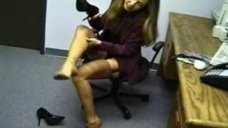 Repeat youtube video Office Lady stocking toes