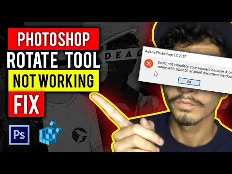 Photoshop Rotate tool not working (FIXED) Method 1 (UziFaceBruh) Subtitles