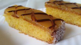 بسبوسة بالليمون و الكريمة لذيييذة ومنعشة basbousa orange & crème