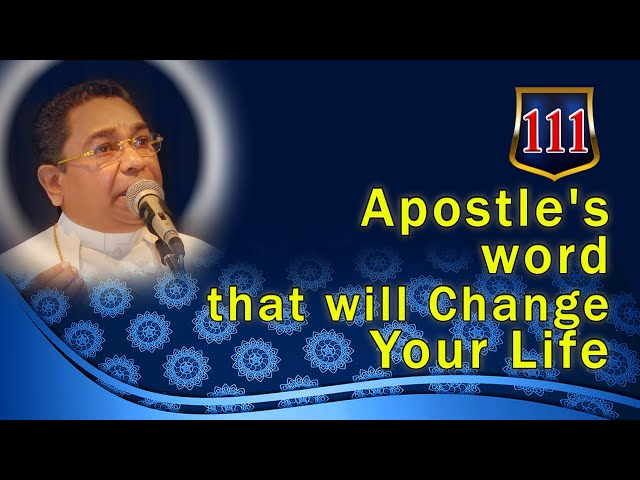Apostle's word that will Change Your Life #111 | His Holiness Apostle Rohan Lalith Aponso