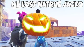 He Lagged Out When He Dropped Nature Jacko (Scammer Gets Scammed) Fortnite Save The World