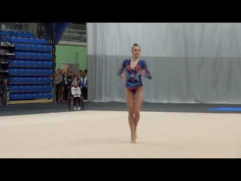 Adelina Beljaeva EST junior hoop Winter Princess 2018