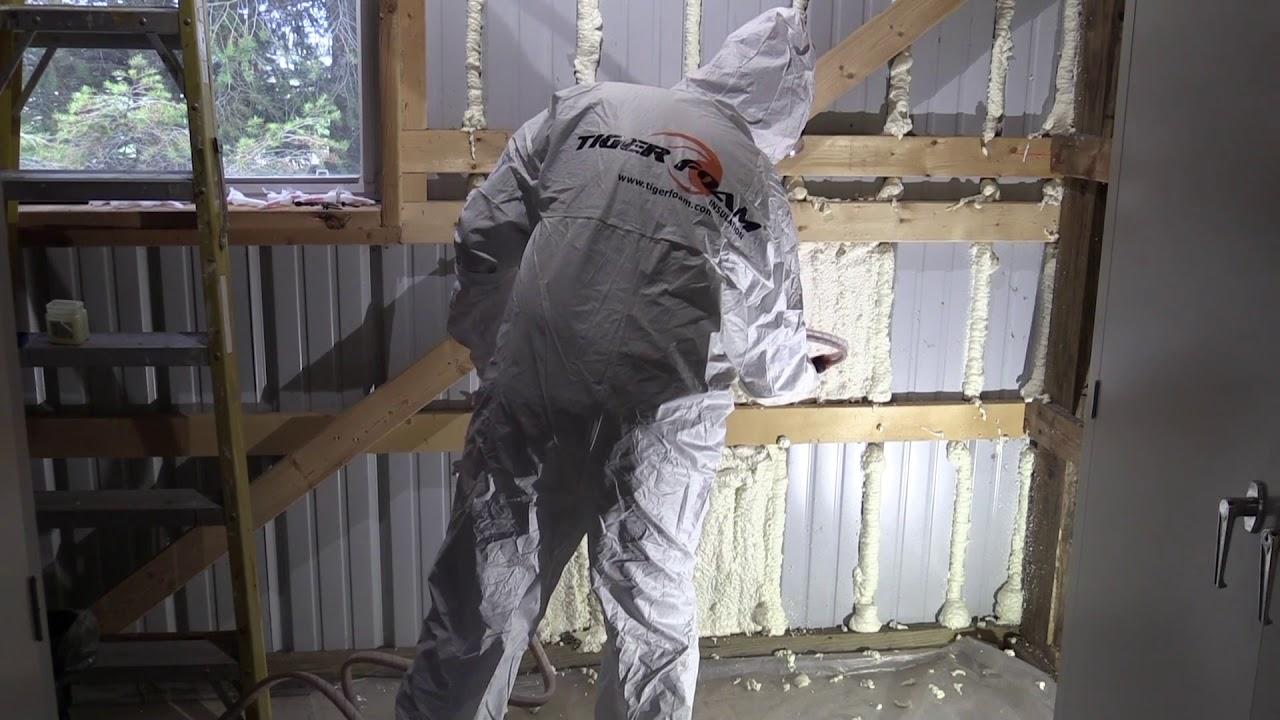 Download Applying Tiger Foam Spray Foam Insulation to Steel Building Walls