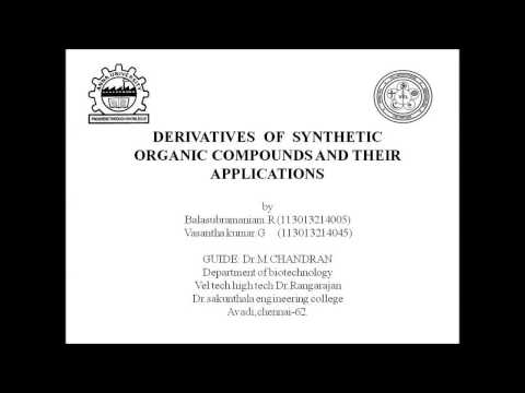 Derivatives of synthetic organic compounds and their applications