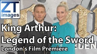 Charlie Hunnam Poppy Delevingne David Brooklyn Beckham King Arthur Legend of the Sword London