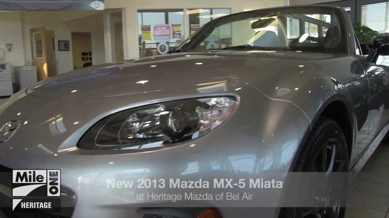 Mazda Dealership Md >> New 2013 Mazda Mx 5 Miata Video Tour Md Mazda Dealer Bel Air