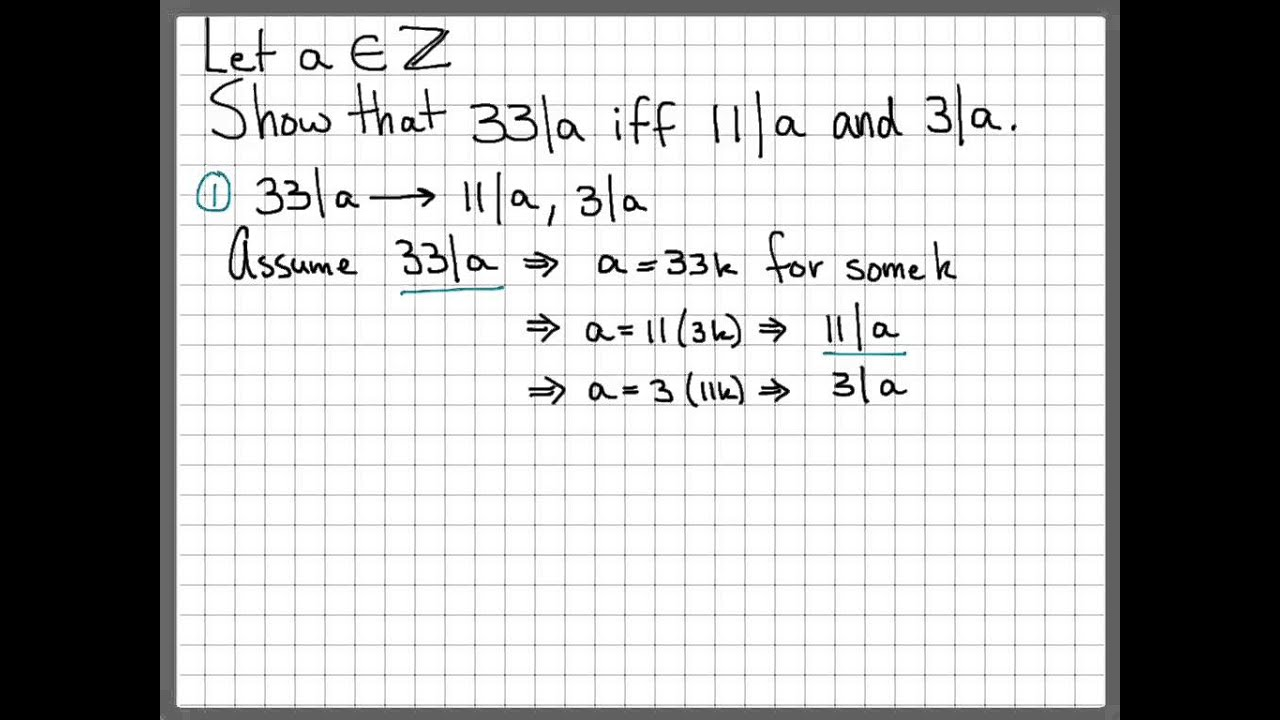 Proof and Problem Solving - If-And-Only-If Proof Example