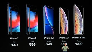Презентация Apple 2018 iPhone XS iPhoneXS Max iPhone XR Apple Watch Series 4