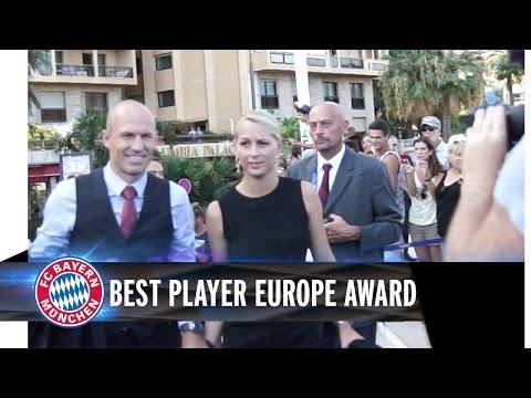Robben and Neuer in Monaco - Best Player in Europe Award