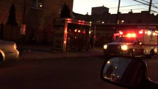 FDNY EMS SUPERVISOR 905, FDNY EMS AMBULANCE & NYPD CRUISER ON EMS RUN ON BROADWAY IN QUEENS, NYC.