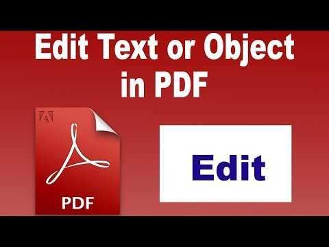 EDIT PDF FILES WITH ADOBE ACROBAT VERY EASY WAY