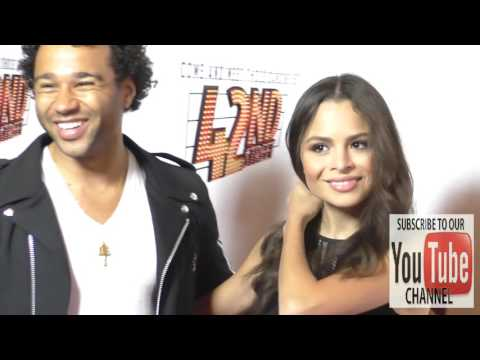 Corbin Bleu and Sasha Clements at the  Night Of 42nd Street at the Pantages Theatre in Hollyw