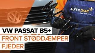 Sådan udskifter du front støddæmper fjederpå VW PASSAT B5+ [GUIDE]