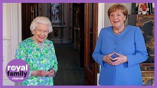 The Queen Meets German Chancellor Angela Merkel at Windsor Castle