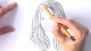 Уроки рисования. Как нарисовать ВОЛОСЫ карандашом .РИСУЕМ ВОЛОСЫ(Скачайте видео урок