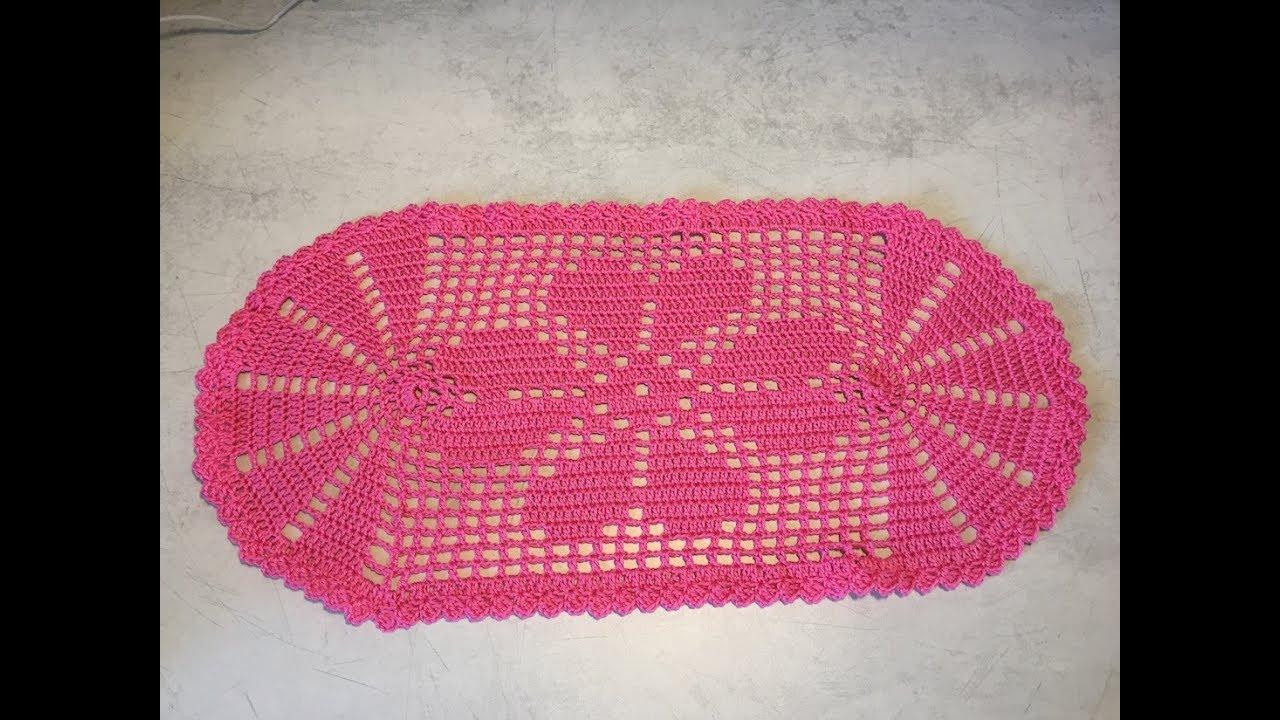 Tuto napperon trefle au crochet youtube - Napperon crochet chemin de table ...