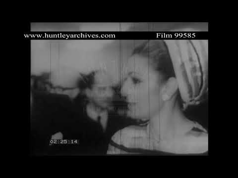Empress Farah Dibah opens French art exhibition in Iran.  Archive film 99585