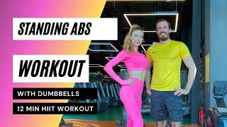 12min Standing Abs Workout | 12dakika AYAKTA KARIN EGZERSİZLERİ | FITINSANE