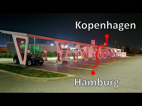 Hamburg - Kopenhagen im Tesla: Zu fünft unterwegs im Model S 90D
