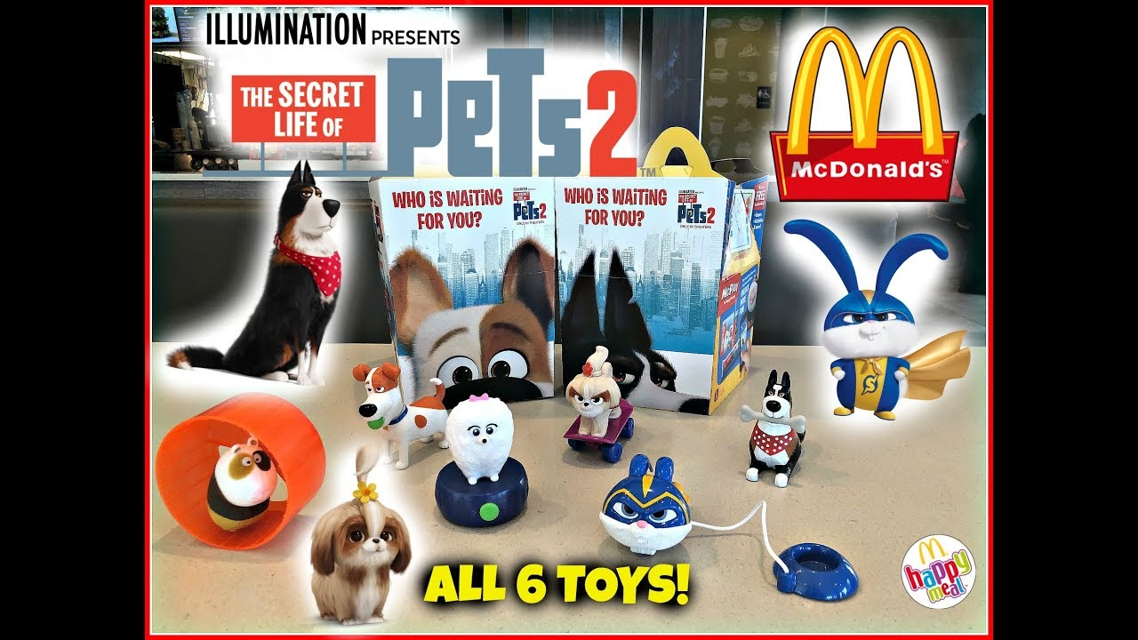 The Secret Life Of Pets 2 Movie Mcdonalds Happy Meal Toys