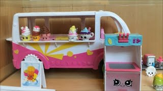 Shopkins Season 3 Scoops Ice Cream Truck Playset Food Fair Van Car Exclusive Fun Toy Video Unboxing