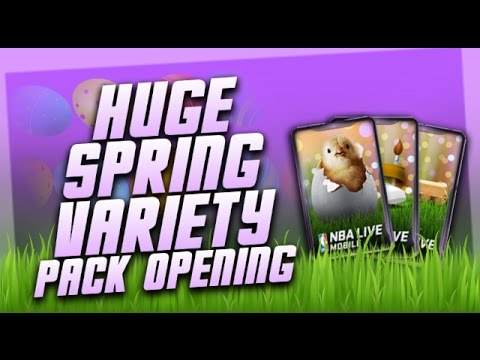 HUGE SPRING VARIETY PACK OPENING! SPRING CHICK PACKS! SO MANY EGGS! - NBA Live Mobile Pack Opening