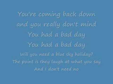 Alvin and the chipmunks - bad day (lyrics)