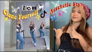 How to clone yourself Aesthetic Tiktok  [give me all your love & dont stop] | Tiktok tutorial