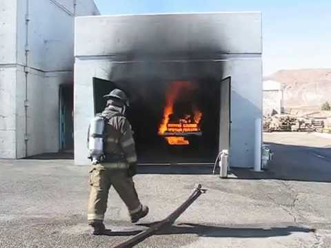 Class A Fire demo at New Mexico Fire Fighters Academy