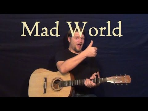 Mad World Tears For Fears Easy Guitar Strum Lesson Em G D A