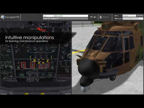 Inscape VTS - Airbus AS532 Helicopter Virtual Maintenance Trainer