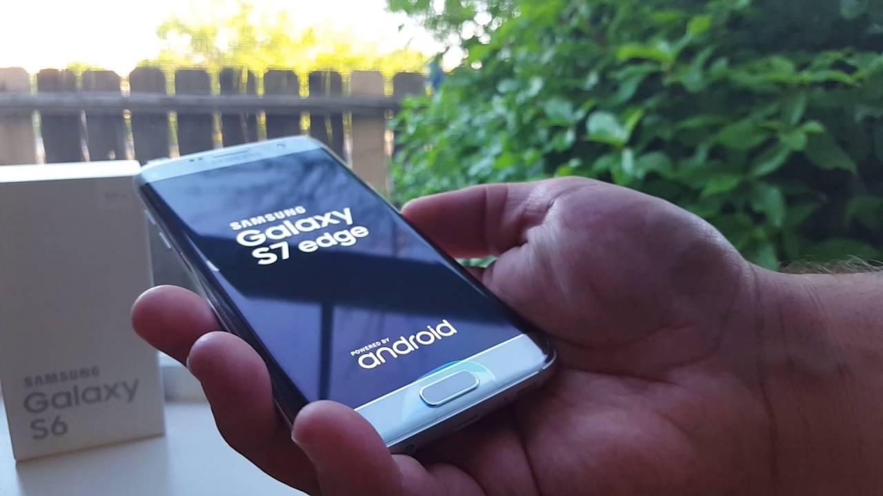Verizon Samsung Galaxy S7 Edge Silver Titanium Unboxing